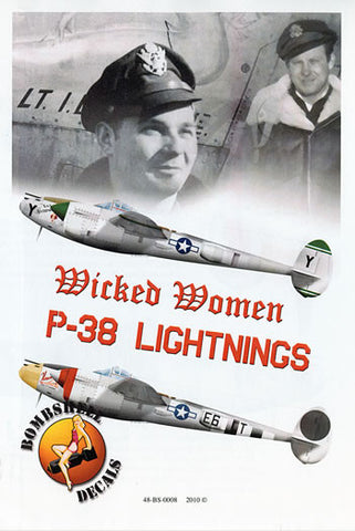 Bombshell 1/48 decals Wicked Women P-38 Lightning Pt 1 - 48-BS-0008