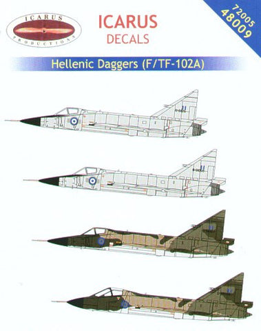 Icarus 1/72 decal Hellenic Daggers F/TF-102A - 72005