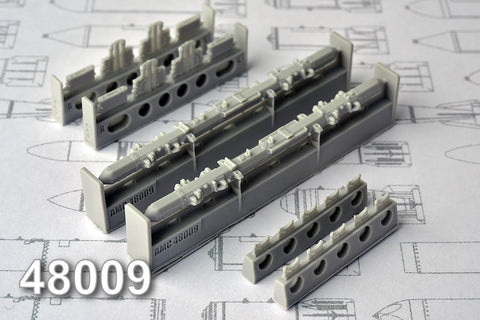 Advanced Modeling 1/48 resin MBD2-67U Multiple bomb racks - AMC48009