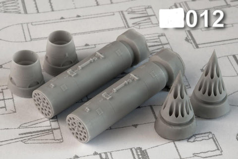 Advanced Modeling 1/48 resin B8M-1 80mm airborne rocket launchers - AMC48012