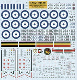 Icarus 1/72 decal North-American F-86E(M) Sabres (4) Hellenic AF - #72009