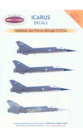 Icarus 1/72 decal for Dassault Mirage F.1CG Hellenic AF #72011