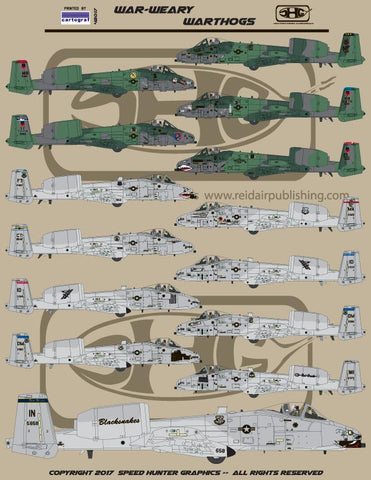 Speed Hunter Graphics Decal 1/48 War-Weary Warthogs - 48017