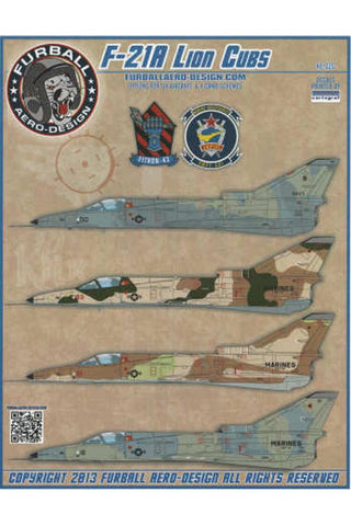 Furball Aero Design 1/48 decals F-21A Lion Cubs Kinetic Kfir 48020
