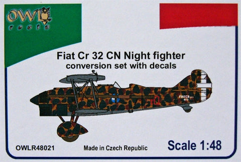 Owl Resin 1/48 Fiat CR.32 CN Night fighter Conv. set & decals - OWLR48021