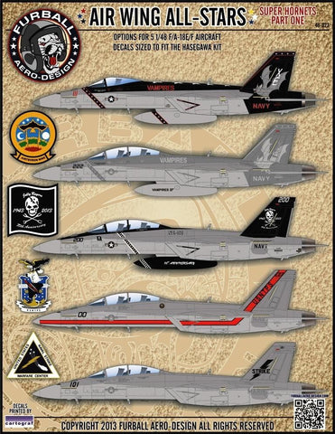 Furball Aero Design 1/48 F/A-18E/F Air Wing All Stars Superhornets Pt I for HSG #48023