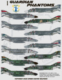 Speed Hunter Graphics 1/48 decals Guardian Phantoms - F-4 Phantoms in US Air National Guard service for Zoukei Mura 48025