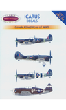 Icarus 1/72 decal Greek WWII Allied Aces - Supermarine Spitfires #72017