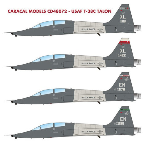 Caracal Models 1/48 decal USAF T-38C Talon Wolfpack Trumpeter CD48072