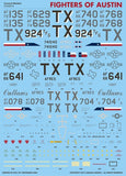 Caracal Models 1/48 decal CD48074 Fighters of Austin 704 TFS Bergstrom AFB