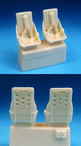 1/48 BarracudaCast BR48085 resin WWII Russian Fighter Seats with Belts