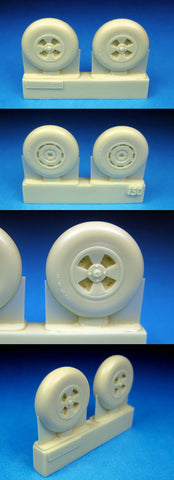 1/48 BarracudaCast BR48150 Hawker Tempest Mainwheels Smooth Tread