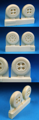 "1/48 BarracudaCast BR48151 British 4-Slot 32"" Mainwheels Block Tread"