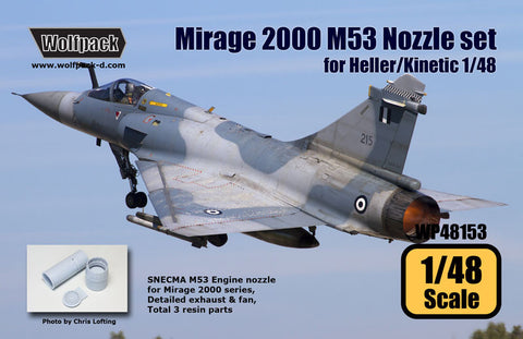 Wolfpack 1/48 scale Mirage 2000 SNECMA M53 Nozzle set for Kinetic/Heller WP48153