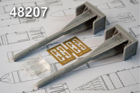 Advanced Modeling 1/48 resin R-60 Short range Air-to-Air missile - AMC48207