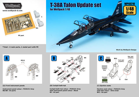 Wolfpack 1/48 scale resin T-38A Talon Update set for Wolfpack kit - WP48210
