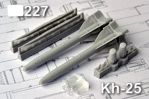 Advanced Modeling 1/48 resin Kh­25 Short range Air to Surface Missile - AMC48227