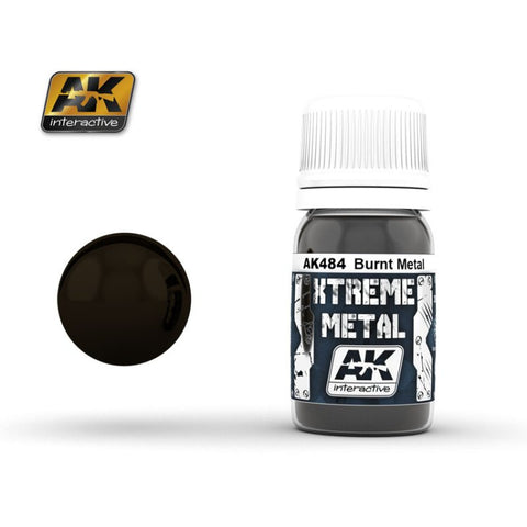 AK Interactive AK-484 Xtreme Metal Burnt Metal 30mL enamel