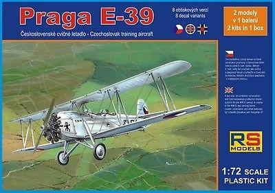 RS Models 1/72 scale Praga E-39 model kit #92061 - New Old Stock