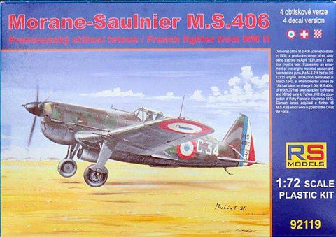 RS Models kit 1/72 scale Morane-Saulnier M.S. 406 - 92119