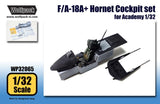Wolfpack 1/32 scale resin F/A-18A+ Hornet Cockpit set for Academy Hornet WP32065