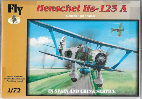 Fly Model 1/72 Henschel Hs-123 A In Spain & China Service Kit #72009