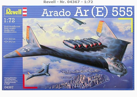 Revell 1:72 scale Arado Ar (E) 555 aircraft kit - 04367 New Old Stock