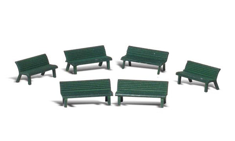 "Woodland Scenics O Scale Scenic Accents ""Park Benches"" (6pcs) - A2758"
