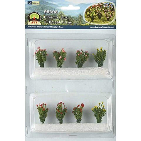 "JTT Scenery Products - O Scale - 95608 Hibiscus Plants 1"" Tall (8pack)"