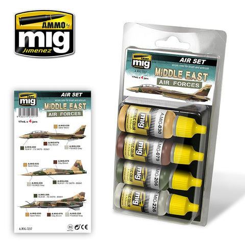 Ammo Mig Jimenez acrylic colors MIDDLE EAST AIR FORCES - AMIG7217 17mL x 4 jars