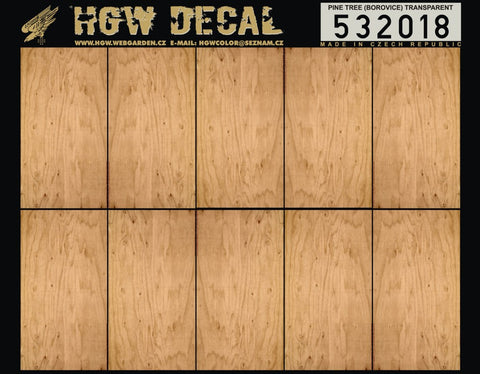 HGW 1/32 Pine Tree Borovice (transparent) decals for Wingnut Wings #532018