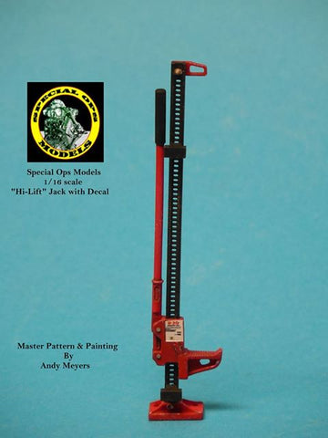 Special Ops 1/16 scale Modern Equipment (Miniature) Hi-Lift Jack Stand w/decal