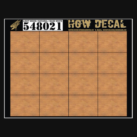 HGW 1/48 wood decals Light Wood Natural (base white) 548021