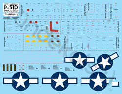 Fundekals 1/32 scale Decals for P-51D/K Mustang - Factory Stencil Data FUN32001