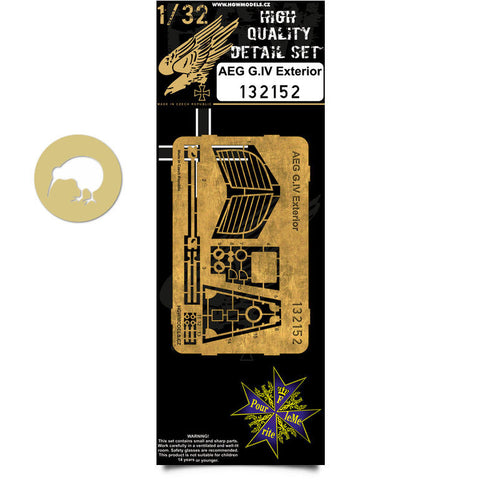 HGW 1/32 #132152 Photoetch exterior for AEG G.IV for Wingnut Wings kit