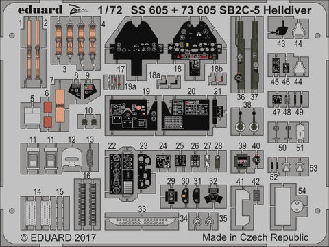 Eduard 1/72 Zoom photoetch for SB2C-5 Helldiver kit by Special Hobby - SS605
