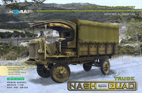 Lukgraph 1/48 The Jeffery Quad or Nash-Quad 4WD truck - Period: 913-16 - 48-02