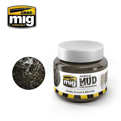 Ammo of Mig Jimenez MUDDY GROUND - Acrylic Mud 250ml Jar A.Mig 2105