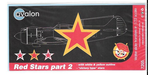 Avalon Decals Red Stars part 2 #7205 - from collection