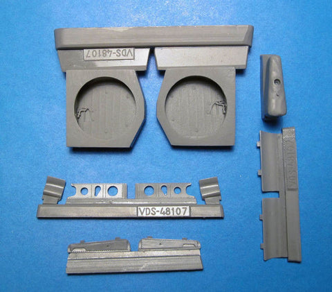 Vector Resin 1/48 scale P-40E/N Wheel Wells for Hasegawa Kits - VDS48107