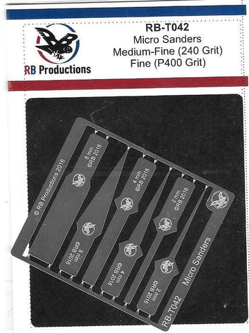 RB Productions Medium-fine (240 grit) and Fine (400 grit) Micro Sanders