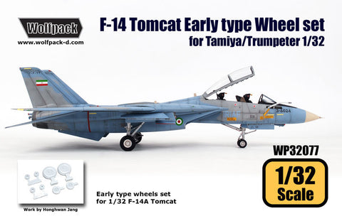 Wolfpack 1/32 F-14 Tomcat Early Type wheel set for Tamiya/Trumpeter WP32077