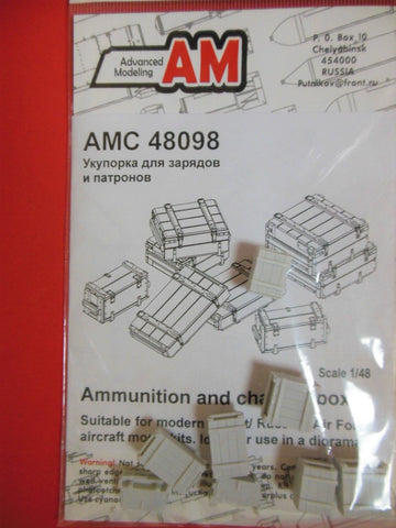 Advanced Modeling 1/48 resin Wooden ammunition and charges boxes - AMC48098