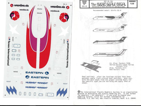 MicroScale 1/44 decal DC-9-30 - 44-6 from collection