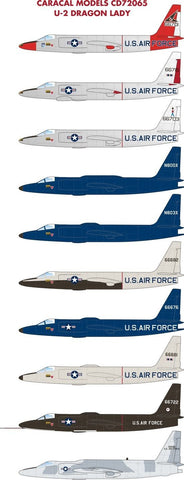 "Caracal Models 1/72 decal CD72065 - U-2A/C ""Dragon Lady"" 10 different options"