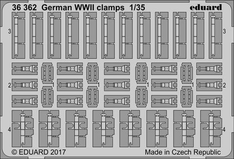 Eduard 1/35 Photoetched German WWII clamps - 36362
