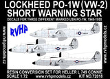 RVHP Models 1/72 PO-1W (VW-2) conversion set for Heller L749 Connie - C7218
