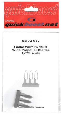 Quickboost 1/72 Resin Focke-Wulf Fw-190F Wide Propeller Blades for Hasegawa kit