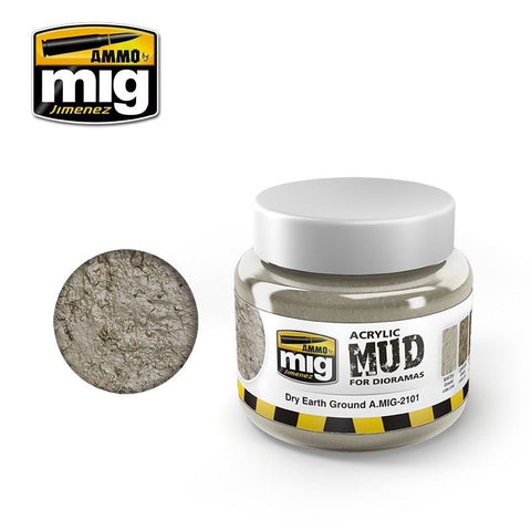Ammo of Mig Jimenez DRY EARTH GROUND - Acrylic Mud 250ml Jar A.Mig 2101