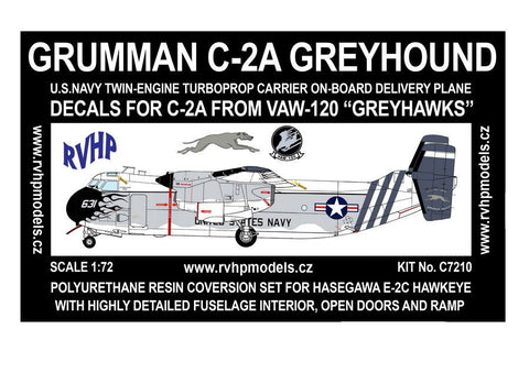RVHP Models 1/72 Grumman C-2A Greyhound conversion for Hasegawa  - C7210